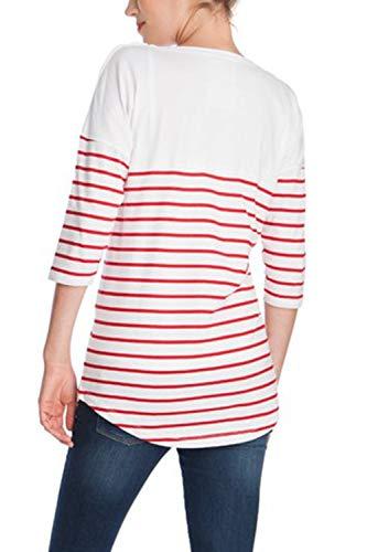 di 4 Allattamento Le Strisce Maglietta Maniche Red Top 3 Classico pTTO5wq