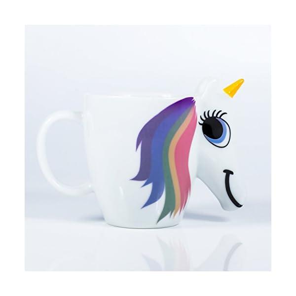Thumbs Up UK Unicorn Color Changing 10 oz Ceramic Coffee Mug 4
