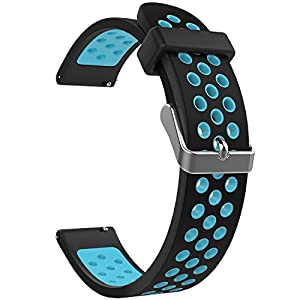 Emibele Universal Watch Band, Premium Soft Silicone Adjustable Replacement Strap for Sport Strap