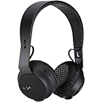 House of Marley EM-JH101-BK Rebel BT Bluetooth Headphones, Black