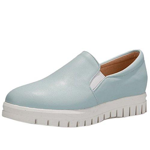 Blue Slip Women KemeKiss Shoes Platform Thick Sneaker Solo Elastic On Dress Casual 7tPtwT