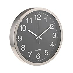 Baoblaze 12 inches Stainless Steel Modern Wall Clock Silent Mute Clock for Home Dining Living Room Bedroom Decor - 2#
