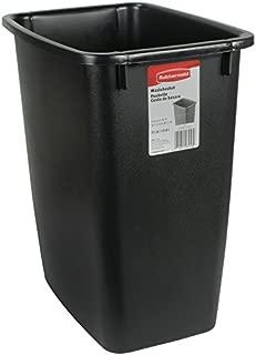 product image for Rubbermaid FG280500BLA Plastic Resin Wastebasket Trash Can for Bedroom Bathroom, Office, 5 Gallon/20 Quart, Black