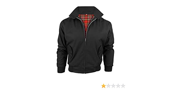 MADE IN ENGLAND Mens Classic Mod Retro Harrington Jacket Small Black