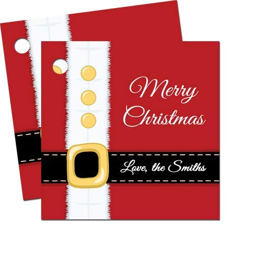 amazon com personalized santa suit christmas gift tags set of 24