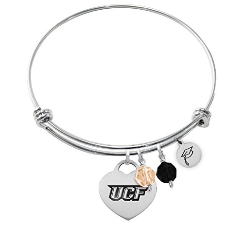 University of Central Florida Adjustable GRADUATION Bracelet With Heart Charm