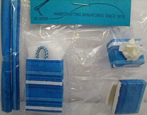 Barb Paper - Dollhouse Gift Wrap Shopping Bag Bxs Paper Hanukka Chanukah By Barb Miniature