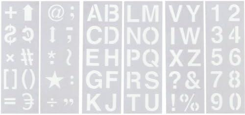 "Stencil Sheet Set 13/""X4.5/"" 6//Pkg-Alphabet Numbers /& Symbols 2/"""