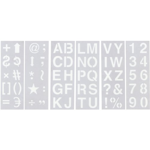 (Multicraft Imports Stencil Sheet Set, 2-Inch, Alphabet/Numeric/Symbol)