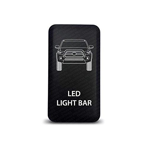 CH4X4 Push Switch for Toyota Tacoma 3rd Gen - Led Light Bar Symbol - Blue LED