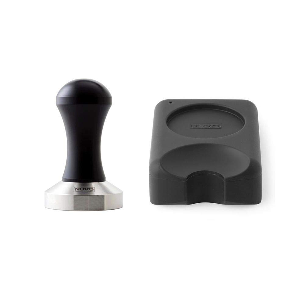 Espresso Tamper Flat Stainless Steel 304 with Non-Toxic Silicon Tamping Mat