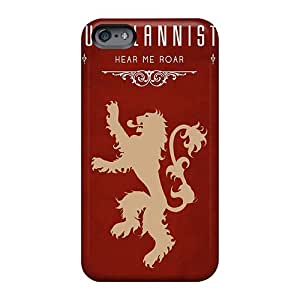 Shock Absorbent Cell-phone Hard Covers For Apple Iphone 6 Plus With Support Your Personal Customized High Resolution Game Of Thrones House Lannister Series LauraAdamicska