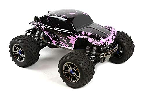 (SummitLink Compatible Custom Body Muddy Pink Over Black Replacement for 1/10 1/8 Scale RC Car or Truck (Truck not Included) B-BP-02)