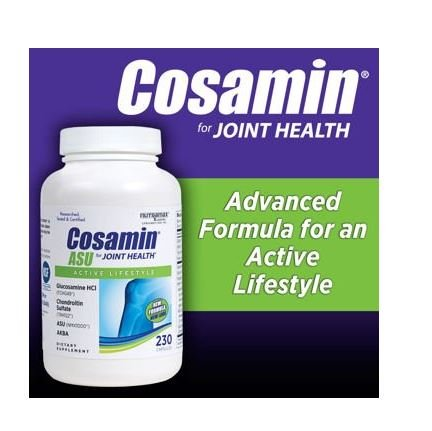 Cheap Cosamin ASU Joint Health Active Lifestyle Glucosamine HCl Chondroitin Sulfate AKBA 230 capsules (1 bottle (230 capsules))