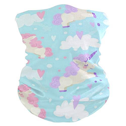 Pink Blue Unicorn Balaclava Womens Headband Scarf Mens Versatile Bandana, Muffler, Neck Gaiter, Magic, Wristband Headwear