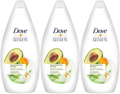 Dove Nourishing Secrets Invigorating Ritual Body Wash, Avocado Oil & Calendula Extract, 16.9 Ounce / 500 Ml (Pack of 3) International ()
