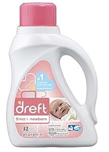 Dreft Stage 1: Newborn Liquid Laundry Detergent (HE), 50 oz, 32 loads