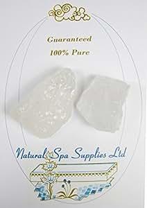 Desodorante 2 Cristales Alumbre Potasio Piedras, peso total 100 g, Deodorize piel sensible o afeitada astringente