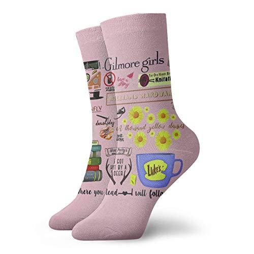 (Gilmore Girls Classic Crew Socks Flat Knit Casual Athletic Stoking 30CM)