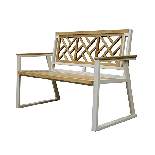 Chippendale Garden Bench - Asta Home Furnishings California Room 52 in. Chippendale Style Teak/Iron Garden Bench
