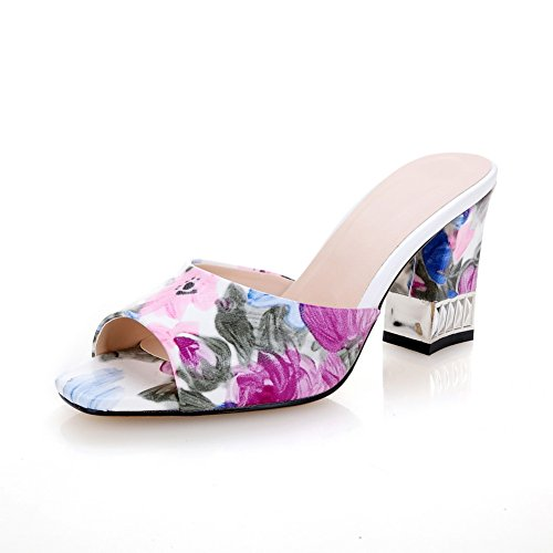 AdeeSu - Zapatos con tacón mujer morado