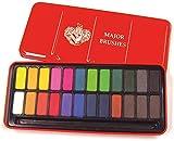 Major Brushes Watercolour Block Tin Set of 24