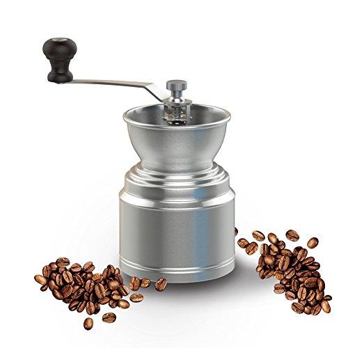 Vomach Manual Coffee Grinder Stainless Steel Adjustable Grinder Durable Coffee Bean Grinder