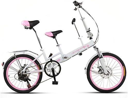SYLTL Bicicleta Tándem Montar Padre-Hijo Doble Adecuado para Altura 140-185 cm Paseo Bicicleta de Montaña Deportes Viajes Bicicleta Entretenimiento y Ocio,Pinkwhite: Amazon.es: Hogar
