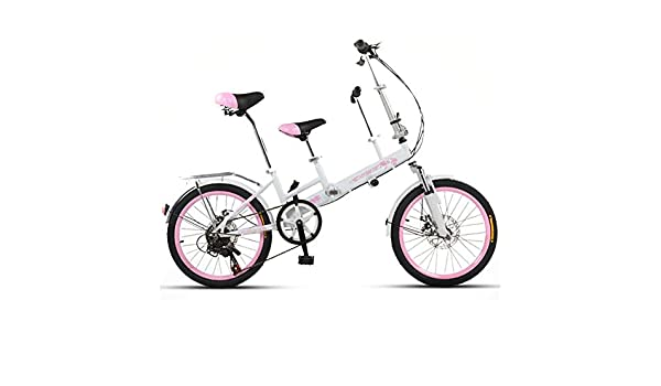 SYLTL Bicicleta Tándem Montar Padre-Hijo Doble Adecuado para ...