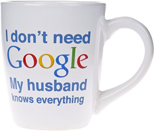 I dont need Google My.....Knows Everything Novelty Ceramic Mug- 22 Oz. Coffee...