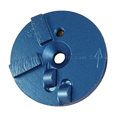 3'' PCD Puck Half Round PCD with Two #18 Grit Segments, Right Handed