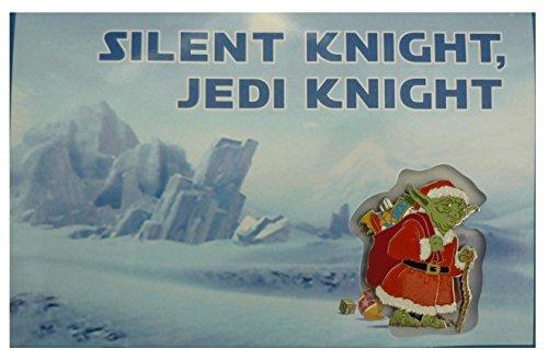 Disney Star Wars Santa Yoda 2014 Christmas Greeting Card & Pin - Theme Park Exclusive