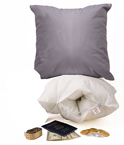 Throw Pillow Safe. Secret Compartment Inside. Be Protected Get Prepared Best Emergency Safeguard your Valuables Now *USA*