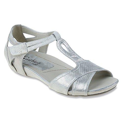 Earthies Ponza Damen US 6 Silber Sandale
