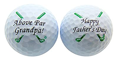 Happy Fathers Day Grandpa Set of 2 Golf Ball Gift Pack for Grandfather