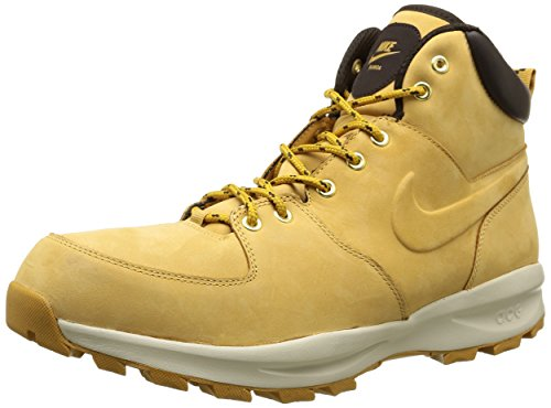 NIKE Men's Manoa Leather Boot, Haystack/Haystack/Velvet Brown, 8.5 D(M) US
