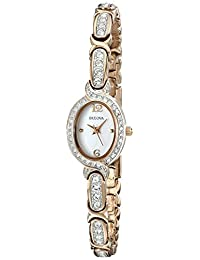 Bulova Women's Ladies Crystal, 98L200 Rose Watch