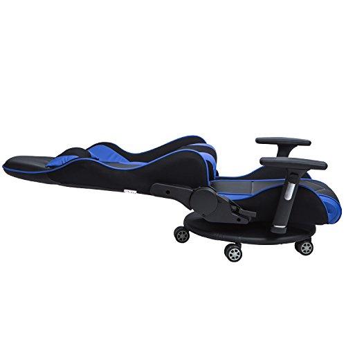 Lch Ergonomic Racing Gaming Amp Floor Chair Back Lumbar