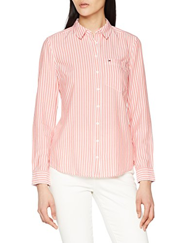 Coral Bright Rosa Mujer spiced Para Shirt Blusa White Jeans 901 Regular Stripe Tommy wBZTzqZ
