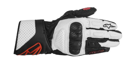 Alpinestars Stella SP-8 2013 Womens Leather Gloves Black/White/Red MD