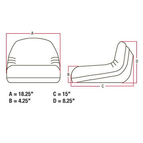 Deluxe Seat Low Back Yellow TY15861 Compatible with John Deere Riding Mowers
