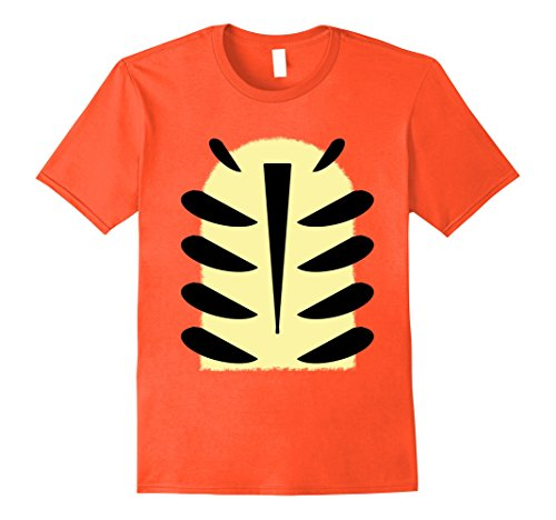 Mens Tiger Stripes Halloween Party Funny DIY T-Shirt 3XL Orange (Paint Face Like Cat Halloween)