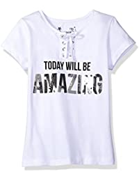 Dream Star Girls' Short Sleeve Laceup Placket with Screen...