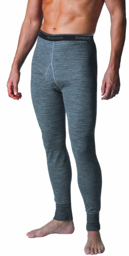 Stanfield's Merino Wool Two Layer Pant, Charcoal Mix, Large