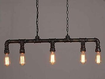 JKL Lámpara de techo Steampunk, lámparas de techo rústicas retro ...