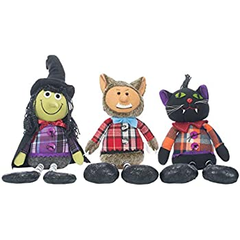 Delton Web Shock Witches 18 x 15 Inch Weighted Shelf Sitting Halloween D/écor Set of 3