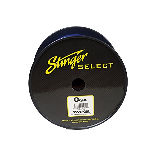 Stinger SSVLP0BL 1/0Ga Matte Blue Power Wire 50'