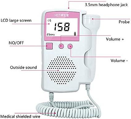Pocket Fetal Doppler Prenatal Baby Heart Rate Detector Household Beat Monitor