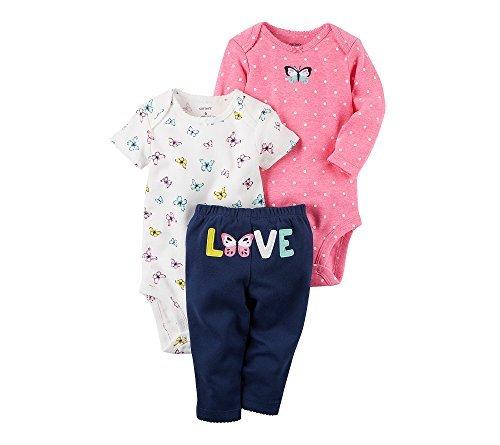 Carter's Baby Girls' 3 Piece Floral Love Set Preemie