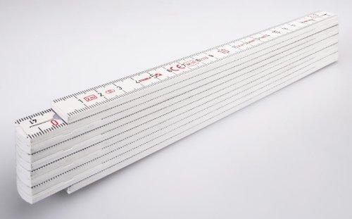 Stabila Messgeräte 01001 Kunststoff-Gliedermaßstab 1007 weiß